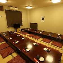 最大30名様!完全個室のお座敷席!