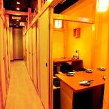 少人数個室多数完備。プライベートでもビジネスにも最適です。
