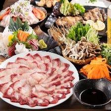 神戸牛に鮑、カニなど最高級料理が勢ぞろい!3時間飲み放題付き全11品:10000円⇒8000円
