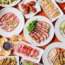 様々なお肉料理を楽しめる