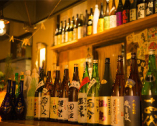 店長厳選の日本酒と焼酎がギッシリ。一度は呑みたい銘酒も。