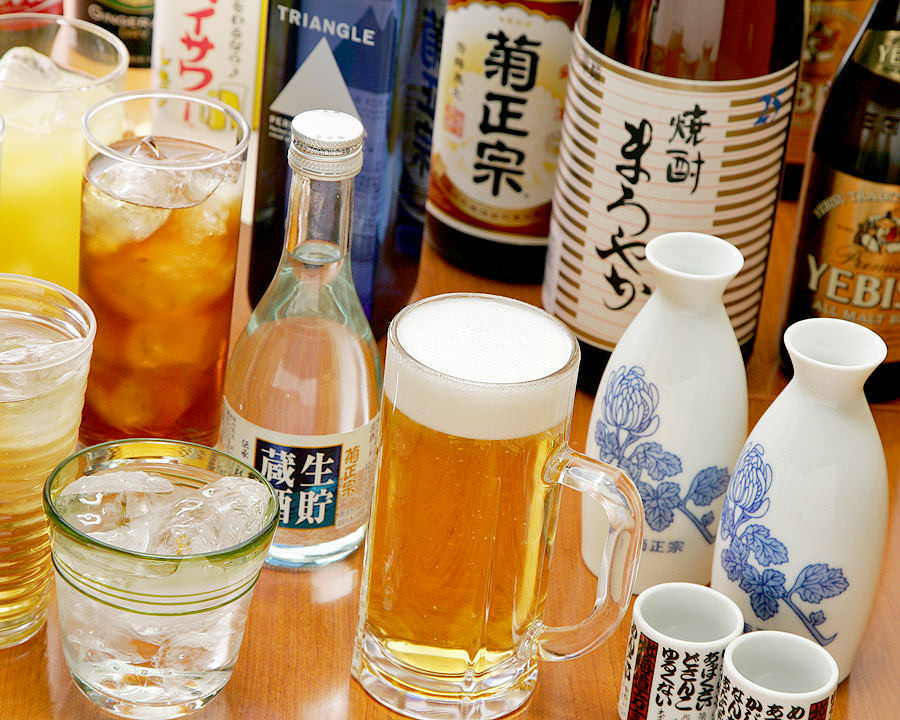 北海道のお酒をはじめ,お飲み物も多数ご用意致しております