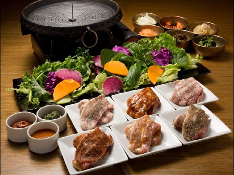 18種の野菜と4種お肉が食べ放題!「いふう」のサムギョプサル♪