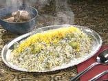 【ペルシャ特製】 バカリポロ〈そら豆とデルの炊き込みご飯〉