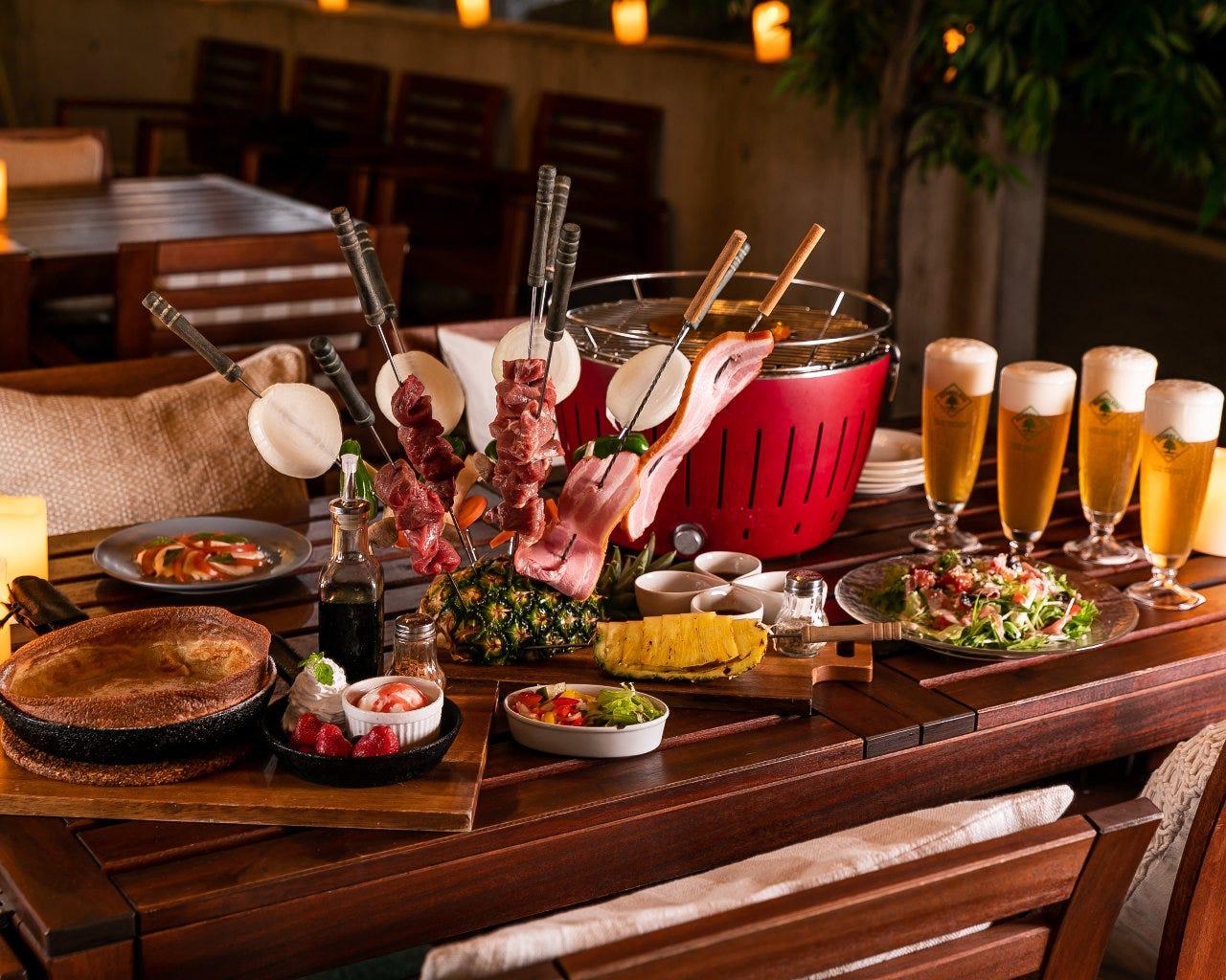 ◆楽天ポイント3倍貯まるコース◆《全10品》手ぶらでBBQ!【肉3種】お手軽BBQコース+2時間飲放