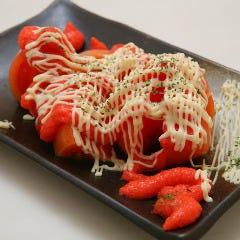 冷やしトマトの明太マヨ