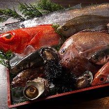 ※お造り 産直拘りのお魚を本日のお勧めにてご提供中!