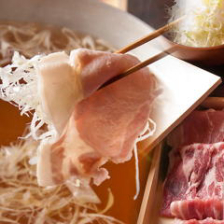 魚介出汁で食す葱たっぷりの豚しゃぶ