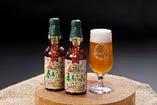 モクモク地ビール(春うらら)。春のうららかさを表現したフルーティーで甘みを感じるビールです。ふんわり香る豊かな香りは発酵の時に酵母が出す特有の香り。徐々に温度を上げて発酵させ、より香り良く仕上げています。