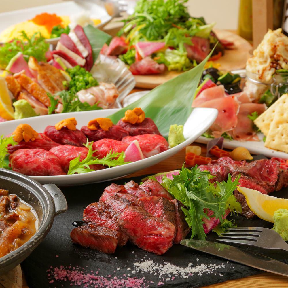 大人気の炙り肉寿司が食べ放題