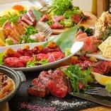 熟成炙り肉寿司X★鍋付&カルパッチョ含む全160以上品3h⇒3000円