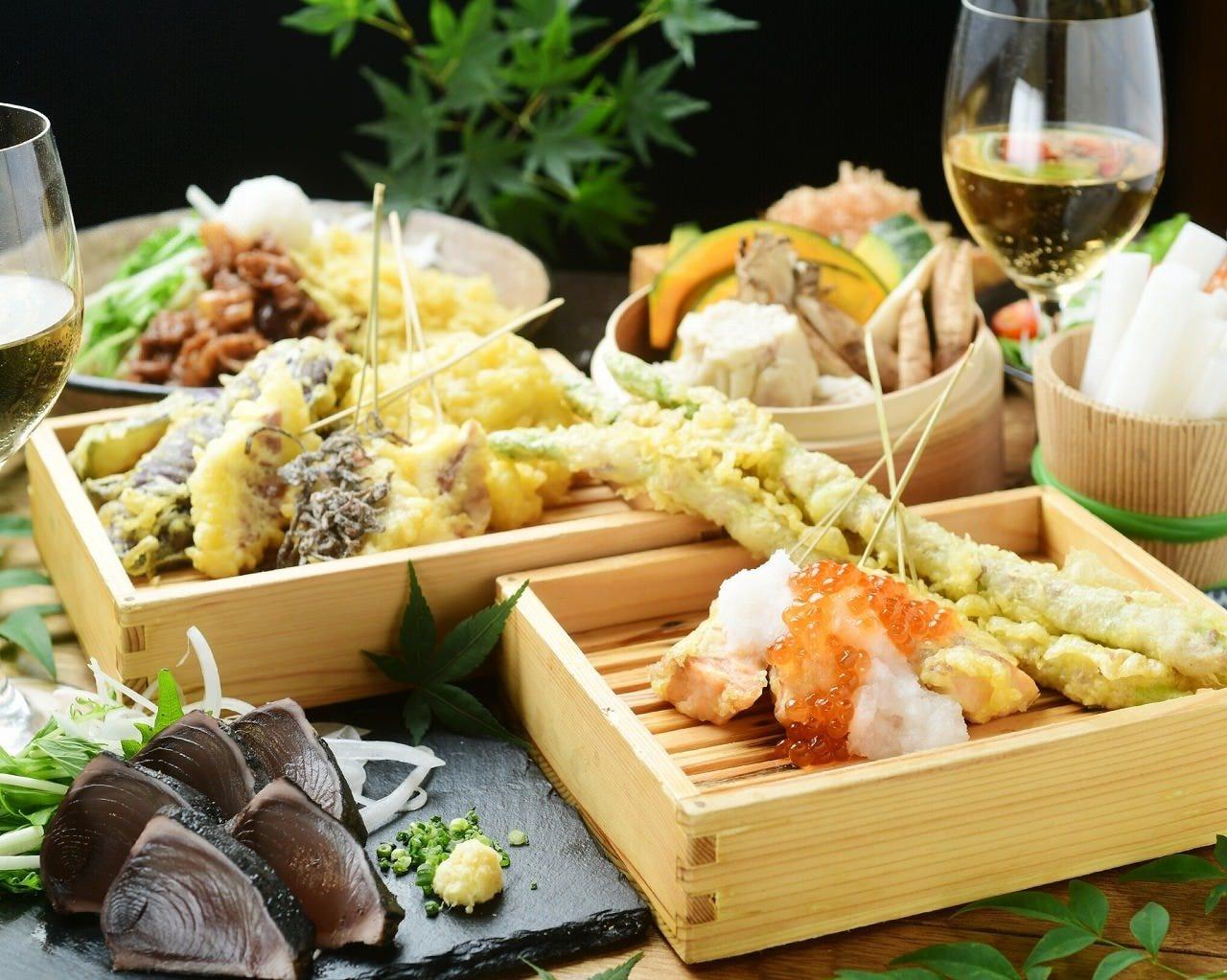【春の宴会】KITSUNEの豪華コース 全12品★5,000円[120分飲み放題付]