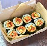 海苔巻き・チゲ・丼・弁当などテイクアウトメニューも種類豊富!