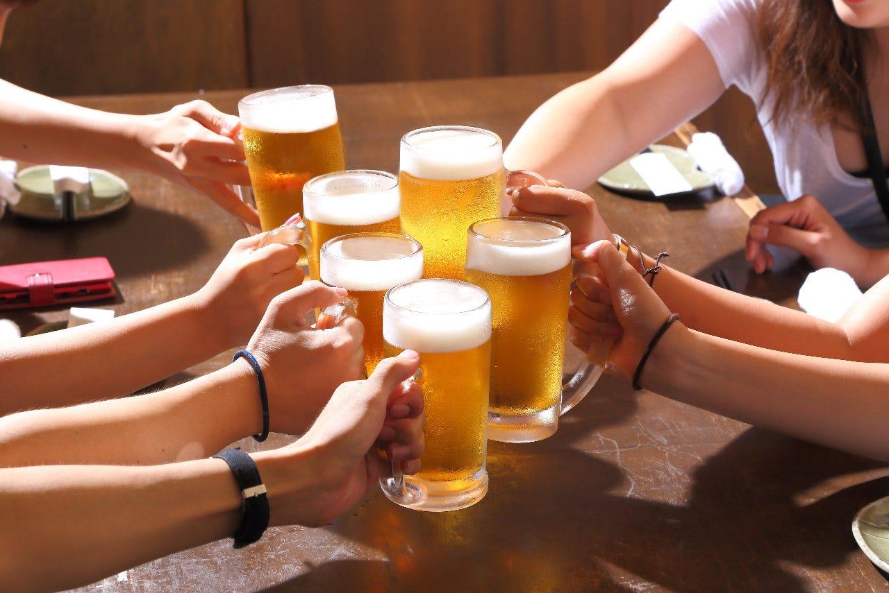 おすすめ盛合¥7,800~宴会コース¥3,800~飲み放題付できます