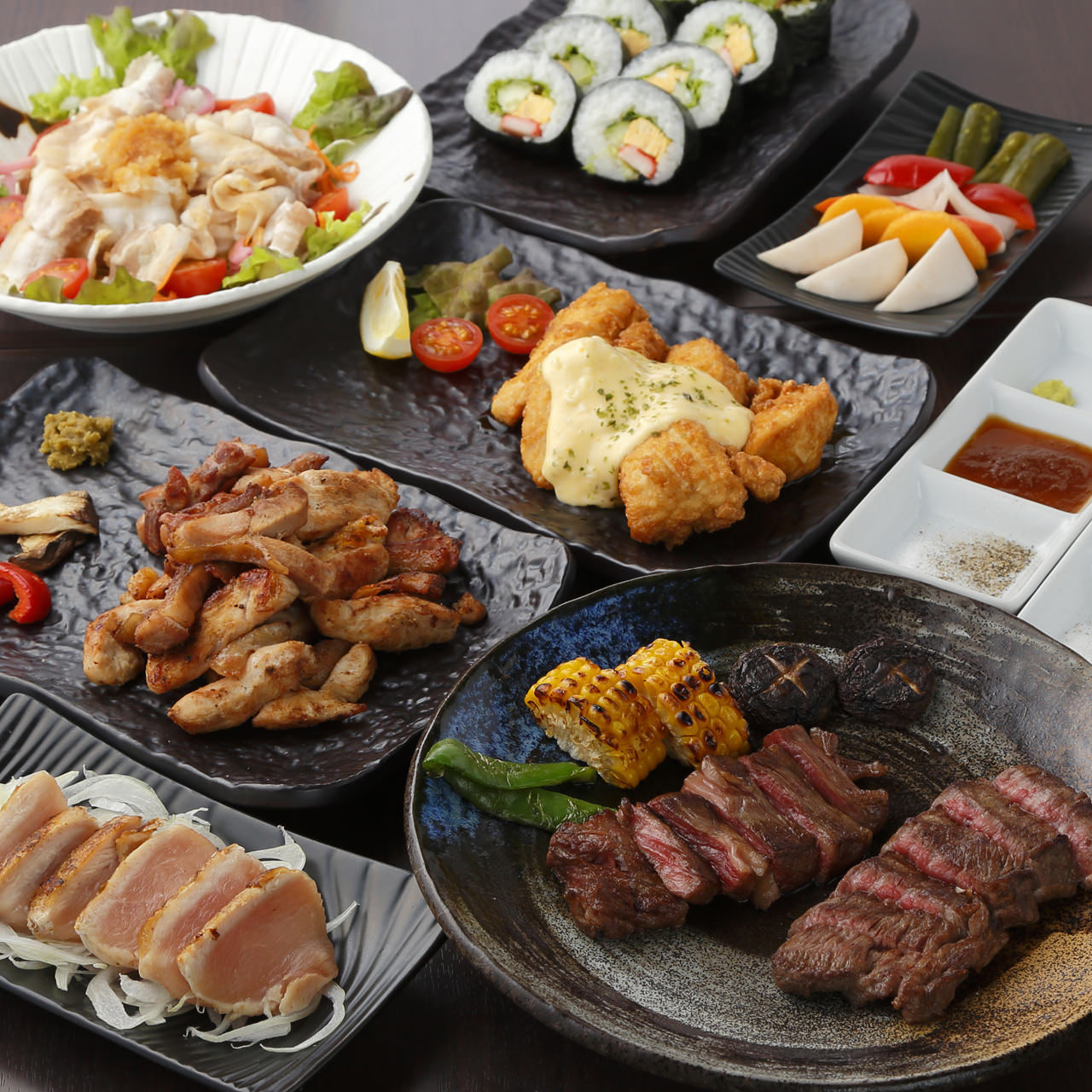 宮崎をまるごと味わう宴会コースが◎