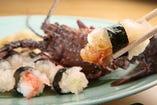 活きた伊勢海老 お造り、お寿司に。今までにないぷりぷりの食感