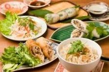 ヘルシーな本格ベトナム料理のコース