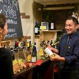 ワイン選びにお困りの際は、オーナーに気軽にご相談ください♪