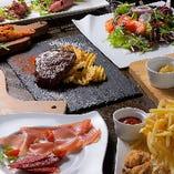 人気NO.1の炭火焼赤身ステーキも楽しめる、質&ボリューム共に大満足の「店長おすすめ宴会コース 」