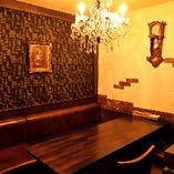 個室や個室空間のテーブルも◎居心地の良いお洒落な空間