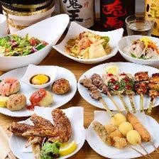 鉄板焼き・鶏飯コースで飲み会&宴会