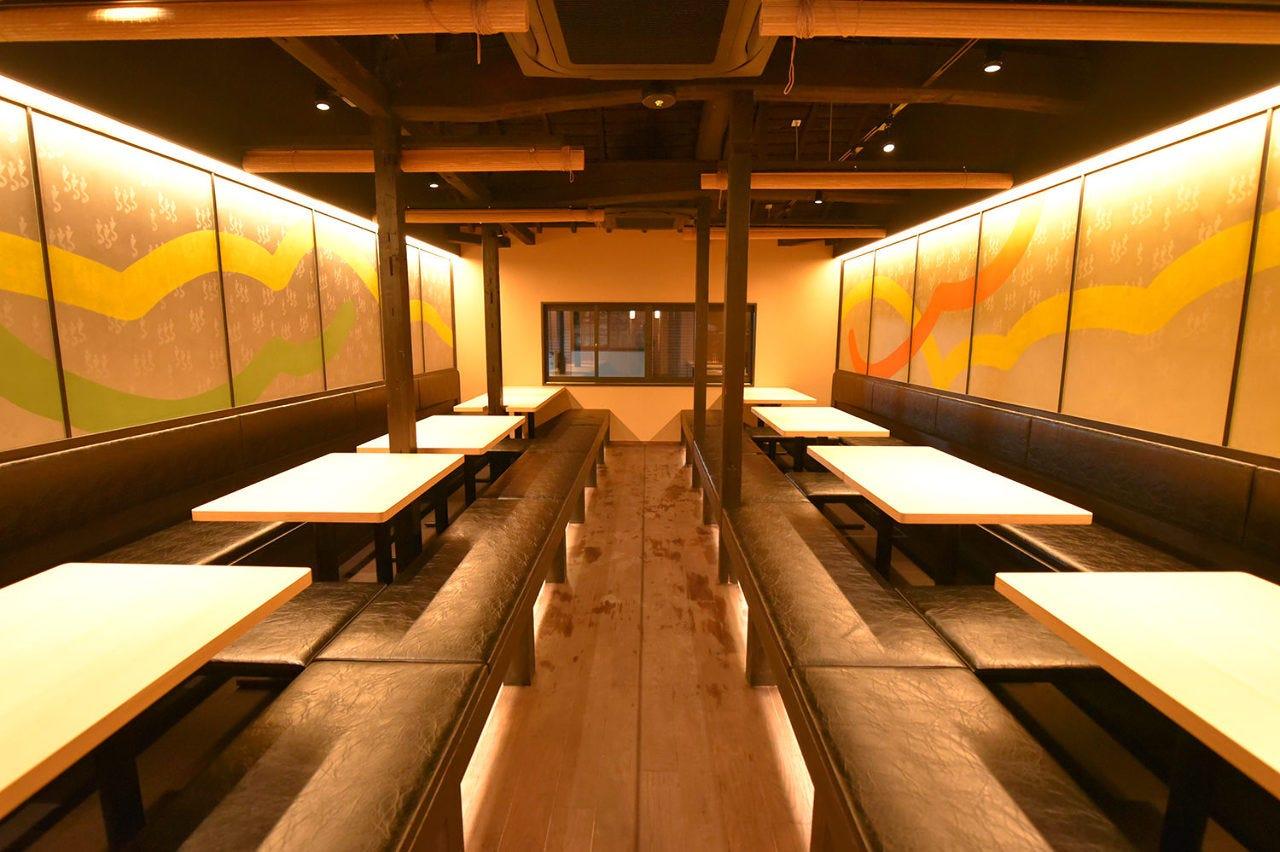1階は大衆居酒屋×2階では宴の宝堂