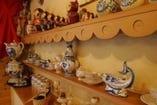 ロシアの陶芸品の数々
