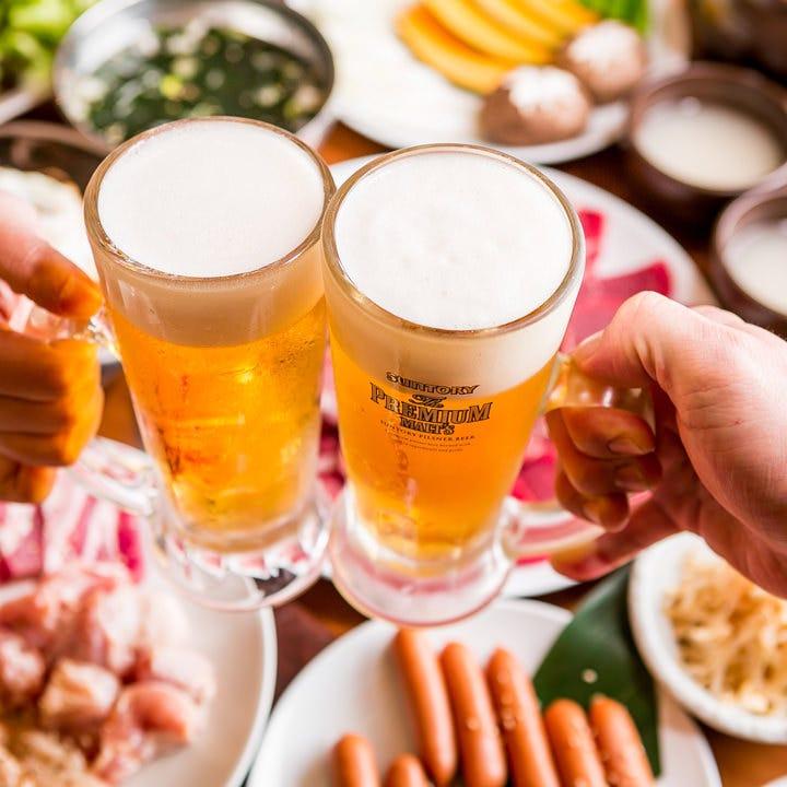 極上焼肉×ビールで乾杯♪