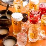 種類豊富な飲み放題メニュー