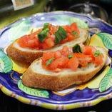 Bruschetta of Tomato トマトのブルスケッタ