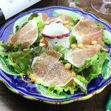 Caesar Salad with raw Ham 生ハムのシーザーサラダ