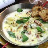 White asparagus Mozzarella Oven bake ホワイトアスパラとモッツァレラのオーブン焼き