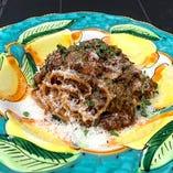 Arrabiata with black garlic and Firefly squid 青森県産熟成黒にんにくと蛍烏賊のアラビアータ