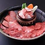 盛り盛りハラミ(400g) (上カルビ・ロース・ハラミ・壺漬カルビ)