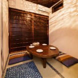 和テイストな居心地の良い空間が◎少人数でくつろげる個室を完備
