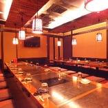 90名会食場 人数に合わせお席の調整も可能です