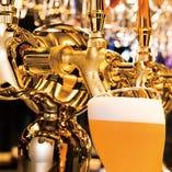 オリジナルの地ビールもご用意 飲み放題プランもあります