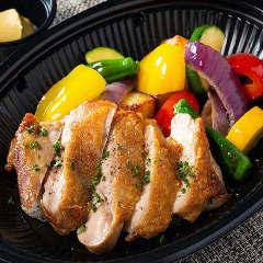 薩摩豊潤鶏のグリルステーキ(バケット付き)