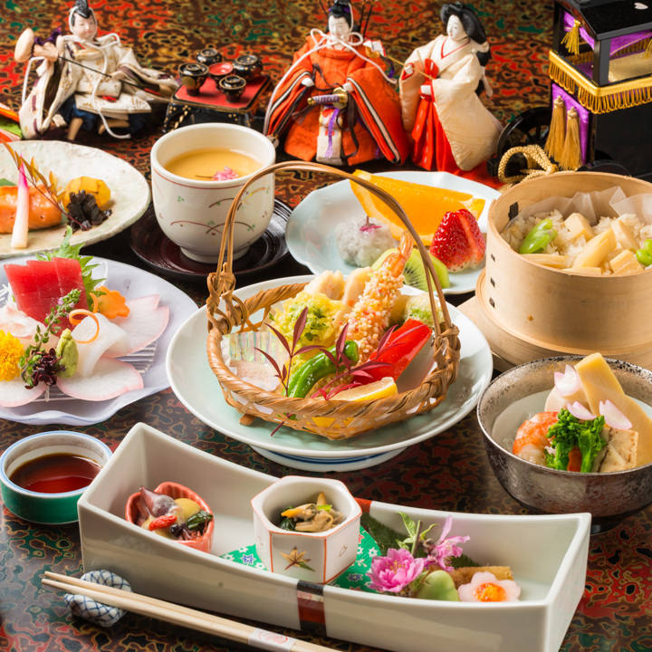 会席料理コース 5,000円(税抜)〈全8品〉歓送迎会・宴会・飲み会