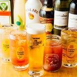 ビール、ワインやハイボールなどお酒も充実のラインナップ