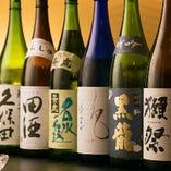豊富に日本酒も各種取りそろえております