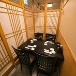テーブル席の個室(~4名様まで)