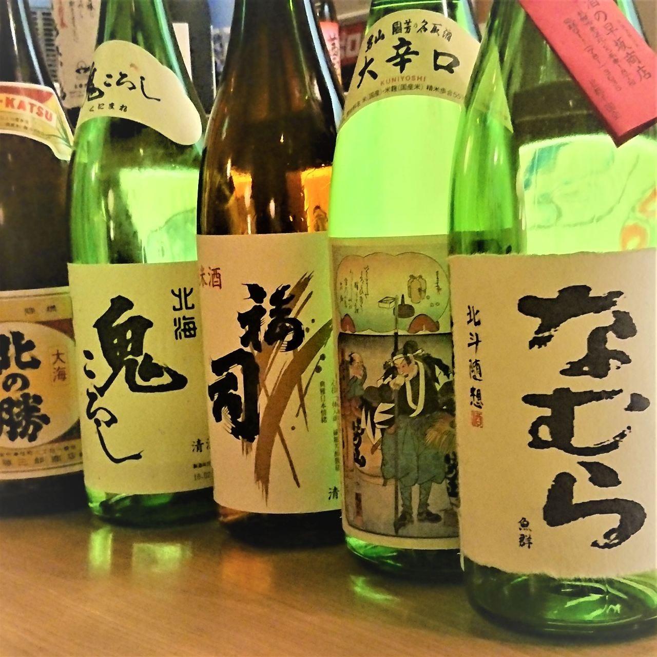 北海道産の日本酒も豊富に御座います。