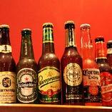 世界の輸入ビールが勢ぞろい♪