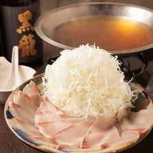風味名物 「葱しゃぶ鍋」を含め全7品、 180分飲み放題付コース6,000円