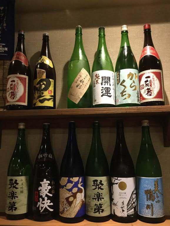 唎酒師の店長厳選日本酒18種