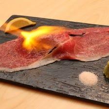 【名物】牛とろ炙り寿司
