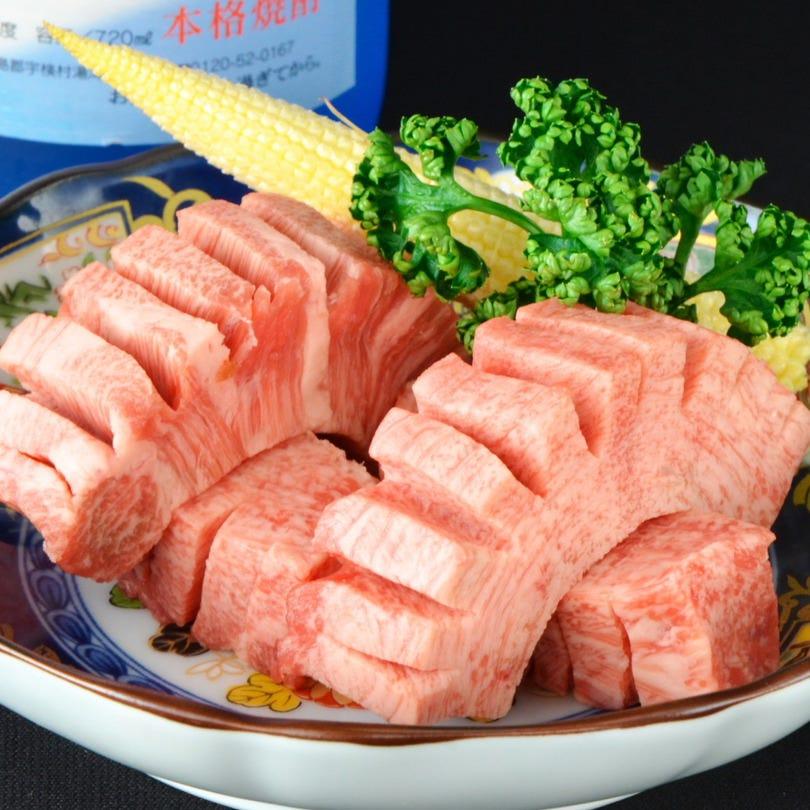 120分飲み放題付◆希少部位を塩・タレの二種盛りで【贅沢コース】7,000円(税込)