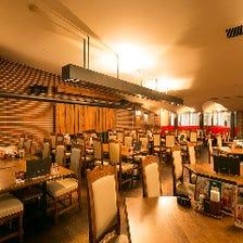 歴史と開放感を楽しむビアレストラン