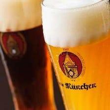何杯でも飽きないビアホールのビール